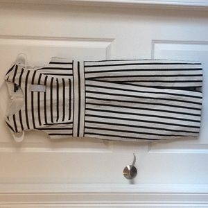 Ann Taylor size 2P. NWT. Black and white stripes